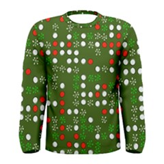 1960 s Christmas Background Men s Long Sleeve Tee