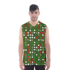 1960 s Christmas Background Men s Basketball Tank Top