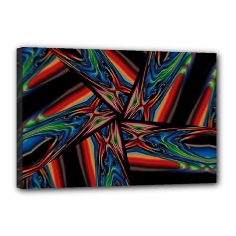 Abstract Art Pattern Canvas 18  X 12  (stretched)