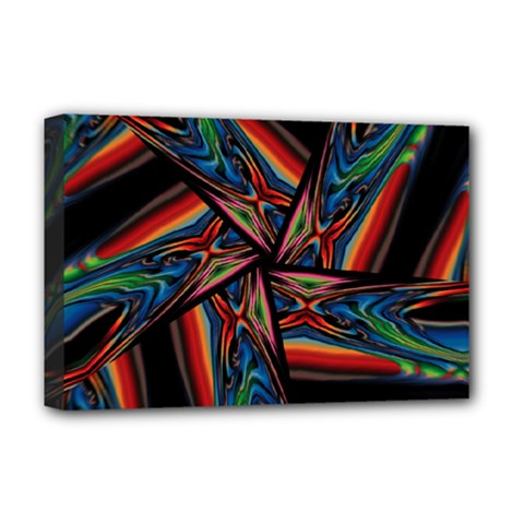 Abstract Art Pattern Deluxe Canvas 18  X 12  (stretched)