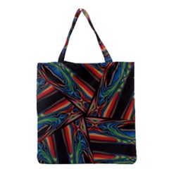 Abstract Art Pattern Grocery Tote Bag
