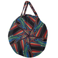 Abstract Art Pattern Giant Round Zipper Tote