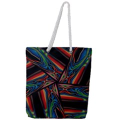 Abstract Art Pattern Full Print Rope Handle Tote (large)