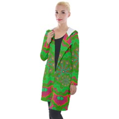 Abstract Art Abstract Background Pattern Hooded Pocket Cardigan