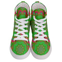 Abstract Art Abstract Background Pattern Men s Hi Top Skate Sneakers