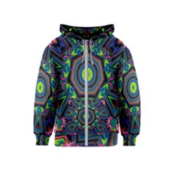 Abstract Art Background Kids  Zipper Hoodie