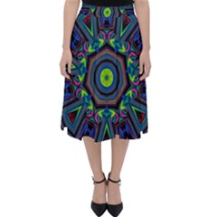 Abstract Art Background Classic Midi Skirt