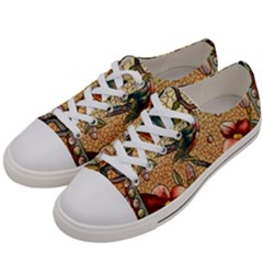 Flower Cubism Mosaic Vintage Women s Low Top Canvas Sneakers by Wegoenart