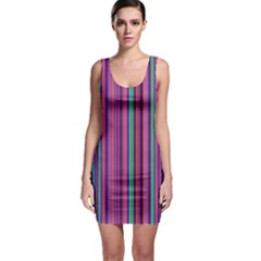 Stripes Wallpaper Texture Bodycon Dress by Wegoenart