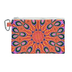 Art Abstract Background Pattern Canvas Cosmetic Bag (large)