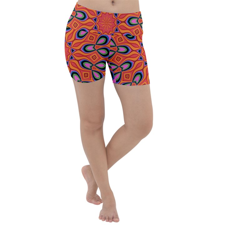 Art Abstract Background Pattern Lightweight Velour Yoga Shorts