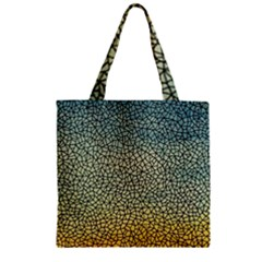 Background Cubism Mosaic Vintage Zipper Grocery Tote Bag