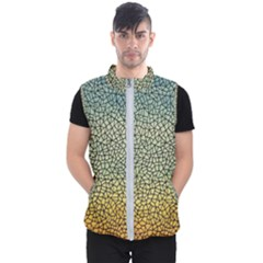 Background Cubism Mosaic Vintage Men s Puffer Vest