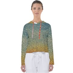 Background Cubism Mosaic Vintage Women s Slouchy Sweat