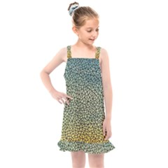 Background Cubism Mosaic Vintage Kids  Overall Dress