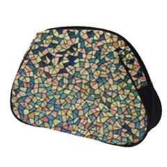 Background Cubism Mosaic Vintage Full Print Accessory Pouch (small) by Wegoenart