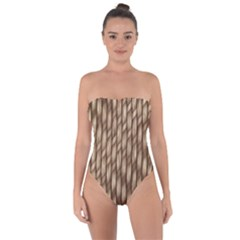Woven Rope Texture Textures Rope Tie Back One Piece Swimsuit