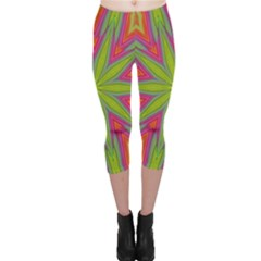 Abstract Art Abstract Background Capri Leggings