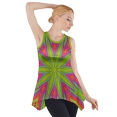 Abstract Art Abstract Background Side Drop Tank Tunic