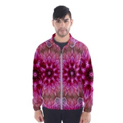 Flower Mandala Art Pink Abstract Windbreaker (men)