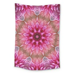 Flower Mandala Art Pink Abstract Large Tapestry