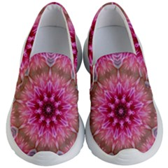 Flower Mandala Art Pink Abstract Kid s Lightweight Slip Ons