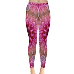 Flower Mandala Art Pink Abstract Inside Out Leggings