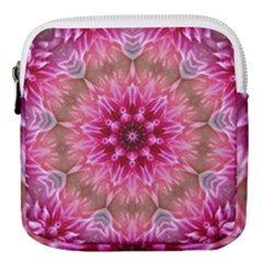Flower Mandala Art Pink Abstract Mini Square Pouch
