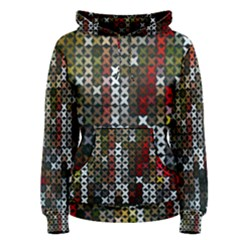 Christmas Cross Stitch Background Women s Pullover Hoodie