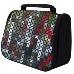 Christmas Cross Stitch Background Full Print Travel Pouch (big)