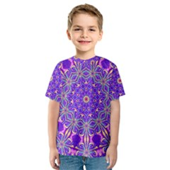 Art Abstract Background Kids  Sport Mesh Tee