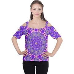 Art Abstract Background Cutout Shoulder Tee