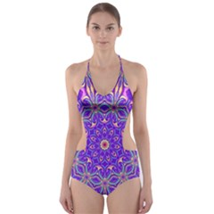 Art Abstract Background Cut Out One Piece Swimsuit