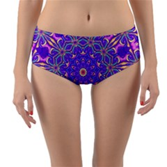 Art Abstract Background Reversible Mid Waist Bikini Bottoms