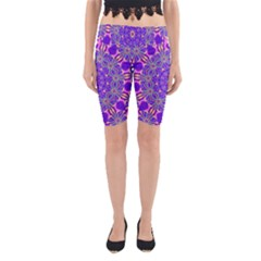 Art Abstract Background Yoga Cropped Leggings