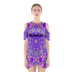 Art Abstract Background Shoulder Cutout One Piece Dress