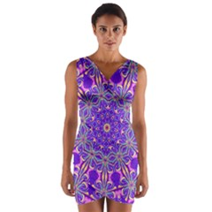 Art Abstract Background Wrap Front Bodycon Dress