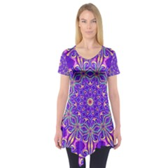 Art Abstract Background Short Sleeve Tunic