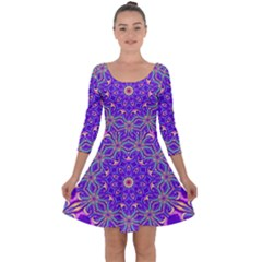 Art Abstract Background Quarter Sleeve Skater Dress