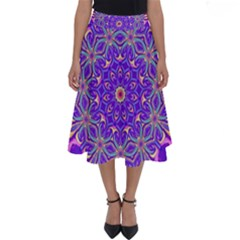 Art Abstract Background Perfect Length Midi Skirt