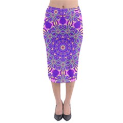 Art Abstract Background Midi Pencil Skirt