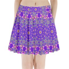 Art Abstract Background Pleated Mini Skirt