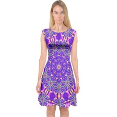 Art Abstract Background Capsleeve Midi Dress