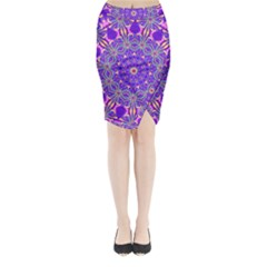 Art Abstract Background Midi Wrap Pencil Skirt