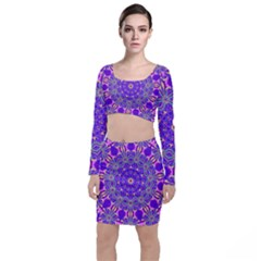 Art Abstract Background Top And Skirt Sets