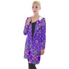 Art Abstract Background Hooded Pocket Cardigan