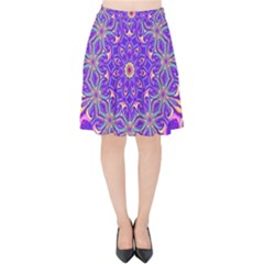 Art Abstract Background Velvet High Waist Skirt