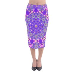 Art Abstract Background Velvet Midi Pencil Skirt