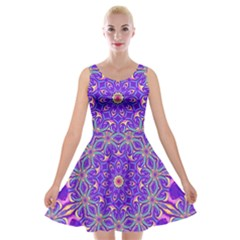 Art Abstract Background Velvet Skater Dress