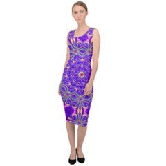 Art Abstract Background Sleeveless Pencil Dress